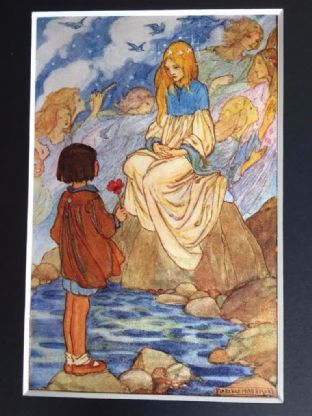 """Children of the Night""  A Stunning Florence Harrison Vintage Colour Plate"